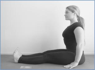 seated staff one legged forward fold  yogafaith
