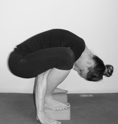 firefly shoulder / arm pressing pose  yogafaith