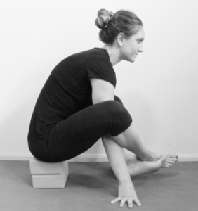 firefly shoulder / arm pressing pose  yogafaith