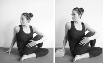 bound sage pose seated spinal twist i and ii  yogafaith