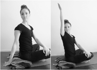 revolved easy pose / gentle spinal twist / sage twist